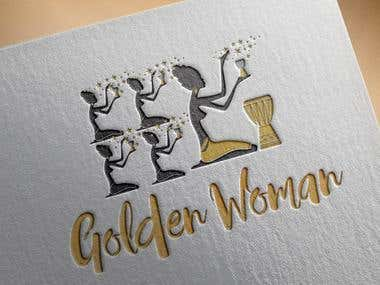 "Logo Design for "" Golden Woman """