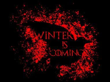 Winter is Coming T-Shirt Design