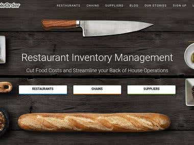 Restaurant website at very low price looks $500 site.