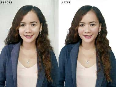 Portrait Image Edit (photoshop)
