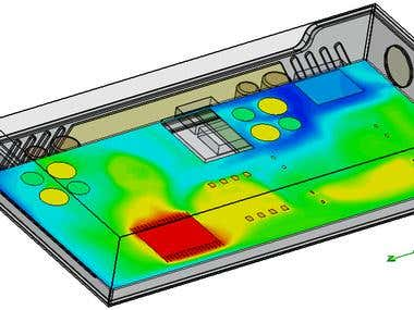 Thermal flow analysis- Electronic enlosure