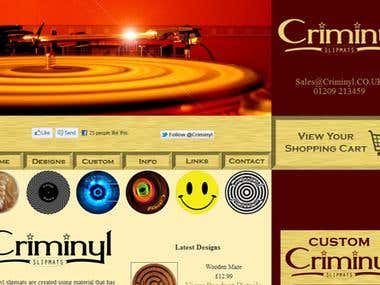 Criminyl Slipmats website