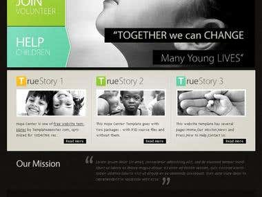 Website for an NGO