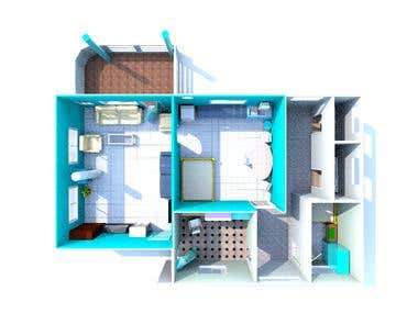 2d and 3d Floor Plan