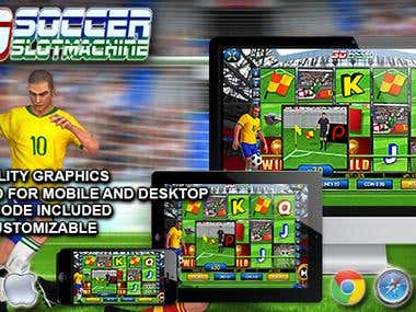3D Soccer Slot Machine - HTML5 Premium Casino Game