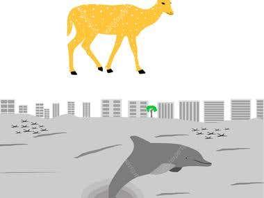 Wildlife art project
