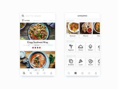 Recipe App UI