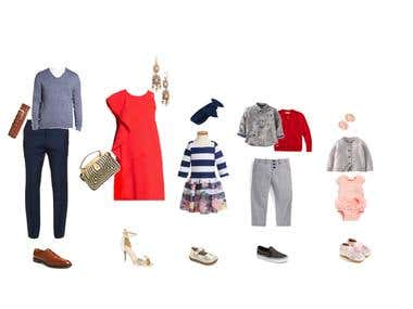 Fashion outfits for family