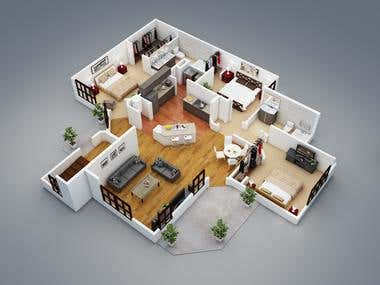 Floor Plan Render