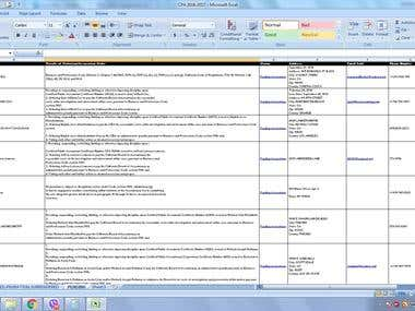 Web Research and Excel