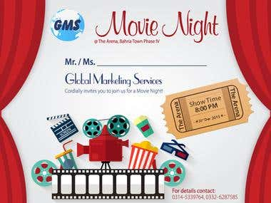 A movie night ticket