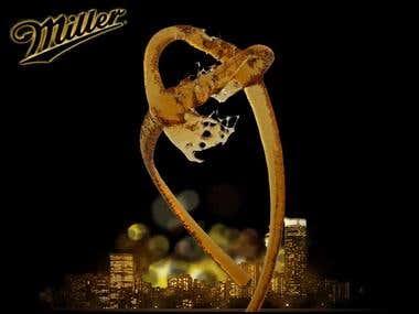 Miller beer online ad