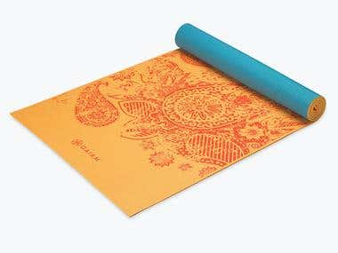 Yoga Mats Illustrations and Designs