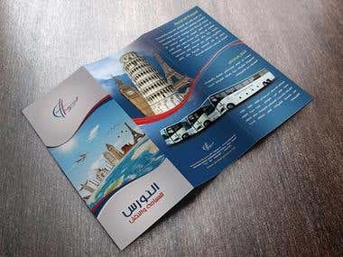 Brochure for a travel company