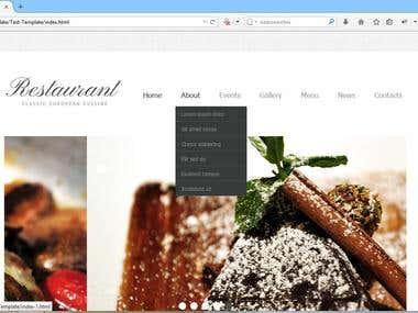 Restaurant Classic European CUISINE- Edit the nav menu