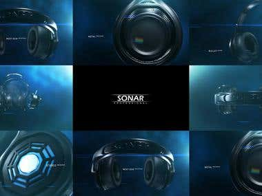 Sonar Headphone Promo Product Visuallization