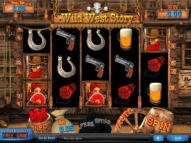 Slot Machine 3D: Wild West Story