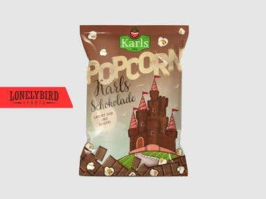 Packaging design for Chocolate Popcorn