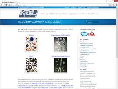 KDL Precision Molding Corp. Website