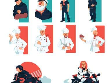 Stylized Vector Characters,