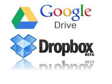 Upload Images/Videos on Dropbox & Google Drive
