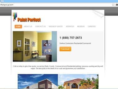 PAINT PERFECT GROUP- RESPONSIVE WEBSITE DESIGN