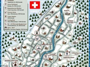 Ski map vectors