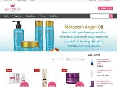Criação de website ecommerce