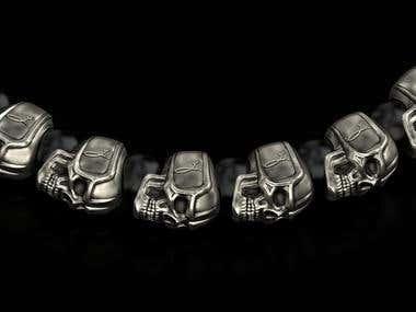 Bracelet with skulls