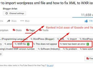 Video keyword ranking