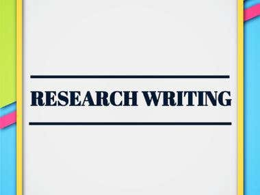 Academic / Research Writing