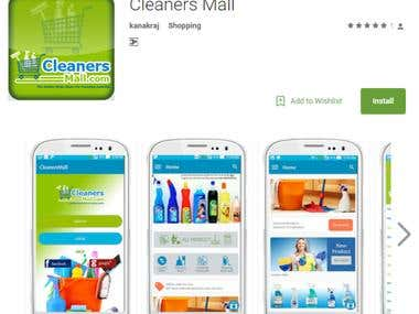 Mobile application - cleaners mall