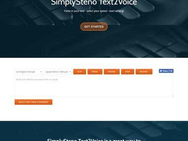 SimplySteno Text2Voice