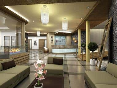 INTERIOR renderings - Lobby, Spa