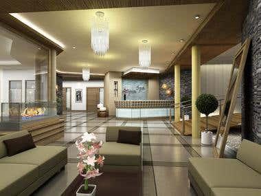 INTERIOR renderings - Lobby, Spa
