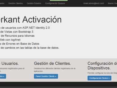 Desarrollo de app Merkant Activación
