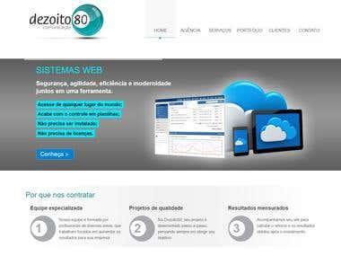 Criação e programação de website