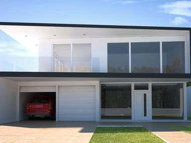 Modern House on fort lauderdale, Low cost project