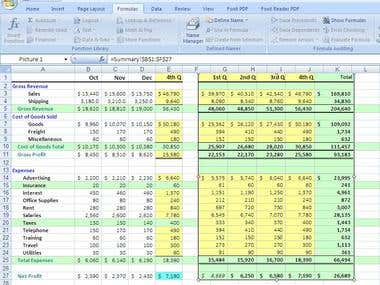 Comparing Data Values in Excel Datasheet