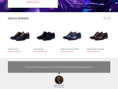 Carbonella Shoes(WordPress Shopping Site)
