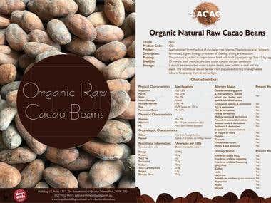 Organic raw broucher