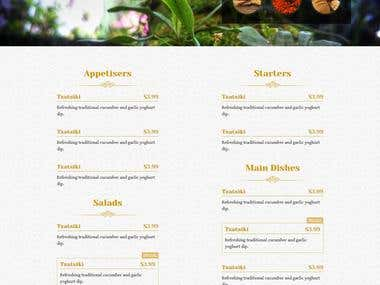 PSD to HTML one pager Template.