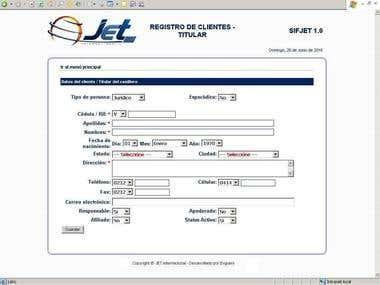 JET International (Like DHL) full automation app