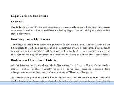 Legal Terms & Conditions