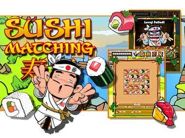 Sushi Matching - HTML5 Match 3 Game