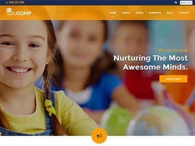 Education Website Template - Live on WrapBootstrap