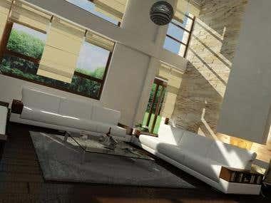 INTERIOR renderings - House + Apartment