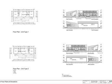ARCHITECTURAL  drawings - House - METRIC