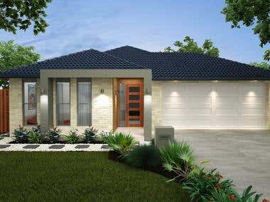 EXTERIOR renderings - House