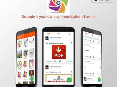 Gruppie  - Your Own Communication Channel